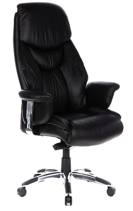 hjh OFFICE chaise de bureau fauteuil de bureau PRADO noir