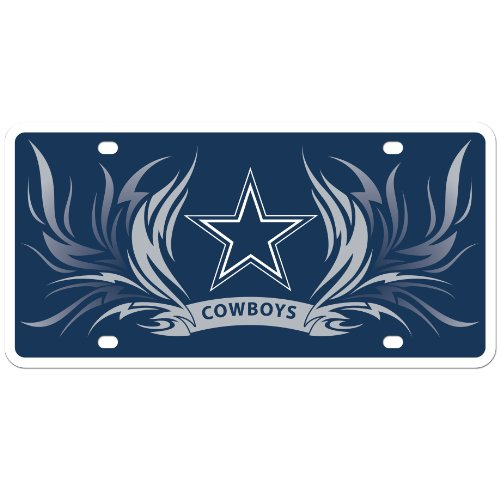NFL Dallas Cowboys Styrene Plate- Flame Style