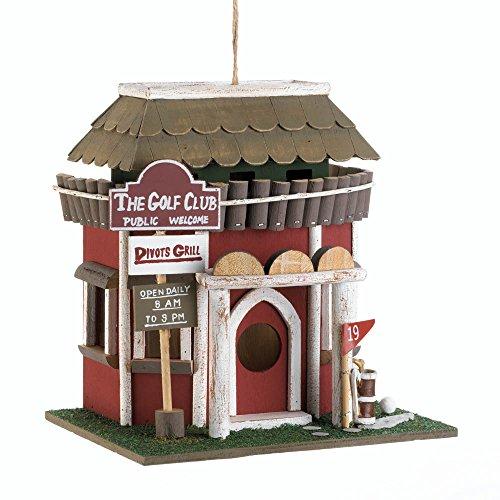 Songbird Valley 10018081 Golf Course Clubhouse Birdhouse, Multicolor