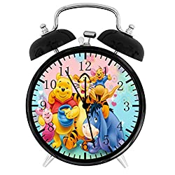 Winnie The Pooh Twin Bells Alarm Desk Clock 4 Home Office Decor F87 Nice for Gifts