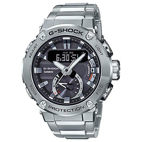 Men's Casio G-Shock GST-B200 Series Connected Stainless Steel Watch GSTB200D-1A ()