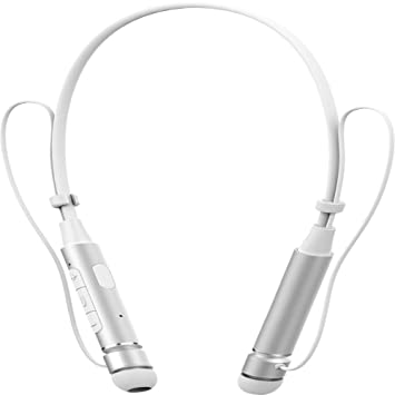 Auriculares elecfan con micrófono Auriculares inalámbricos deportivos Bluetooth 4.1 para gimnasio, llamadas manos libres estéreo
