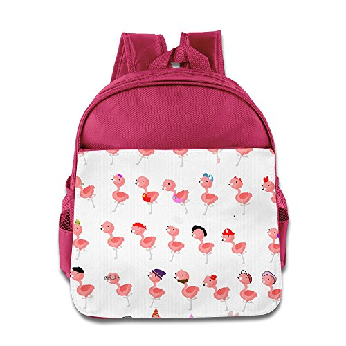 Custom Funny Flamingo Boys And Girls School Bag Backpack For 1-6 Years Old Pink