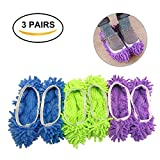 Dust Mop Slippers Shoes Cover, Multifunctional Washable...