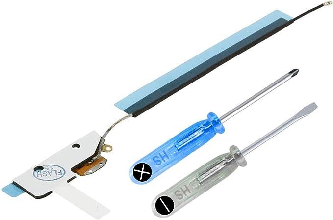 MMOBIEL Antena para señal de WiFi/WLAN/Bluetooth Compatible con iPad 3/4 9.7 Plg. 2012 con Conector Cable Flexible Incl Herramientas