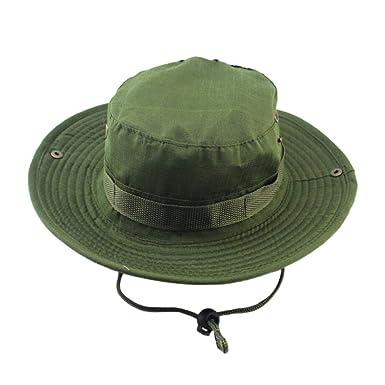8f17b3dadca UJUNAOR Adjustable Hats Mens Fisherman Hat Outdoor Sun Protection Hunting  Hat(Army Green)  Amazon.co.uk  Clothing