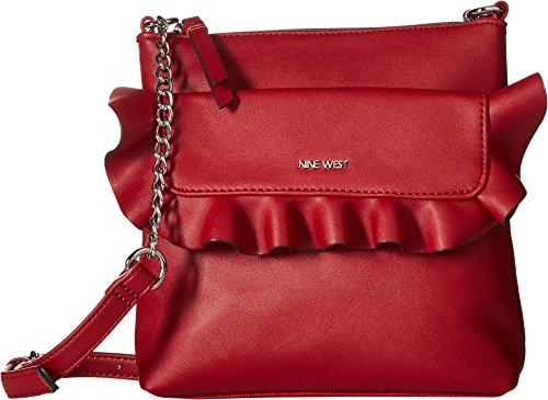 Nine West Women's Zuly Crossbody Ruby Red One Size