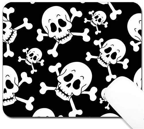(MSD Mouse Pad with Design - Non-Slip Gaming Mouse Pad - Image ID: 13665363 Seamless Pirate Theme Background 1 Vector Illustration)