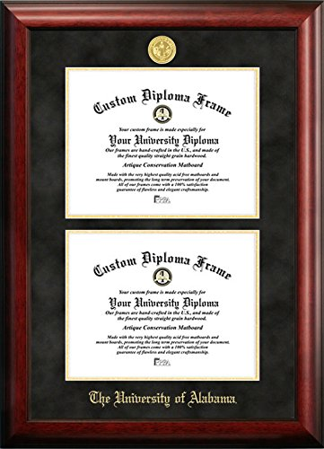 Amazon.com - University of Alabama Double Degree Diploma Frame (8.5 ...
