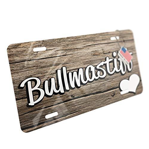 NEONBLOND Bullmastiff, Dog Breed England Aluminum License Plate