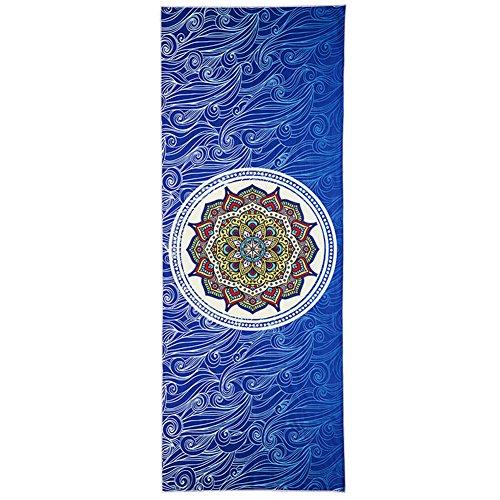 LL-COEUR Imprimé Serviette de Yoga Pliable Tapis de Voyage Gym Portable Couverture de Pilate Eco 1830 x 650 x 1 mm