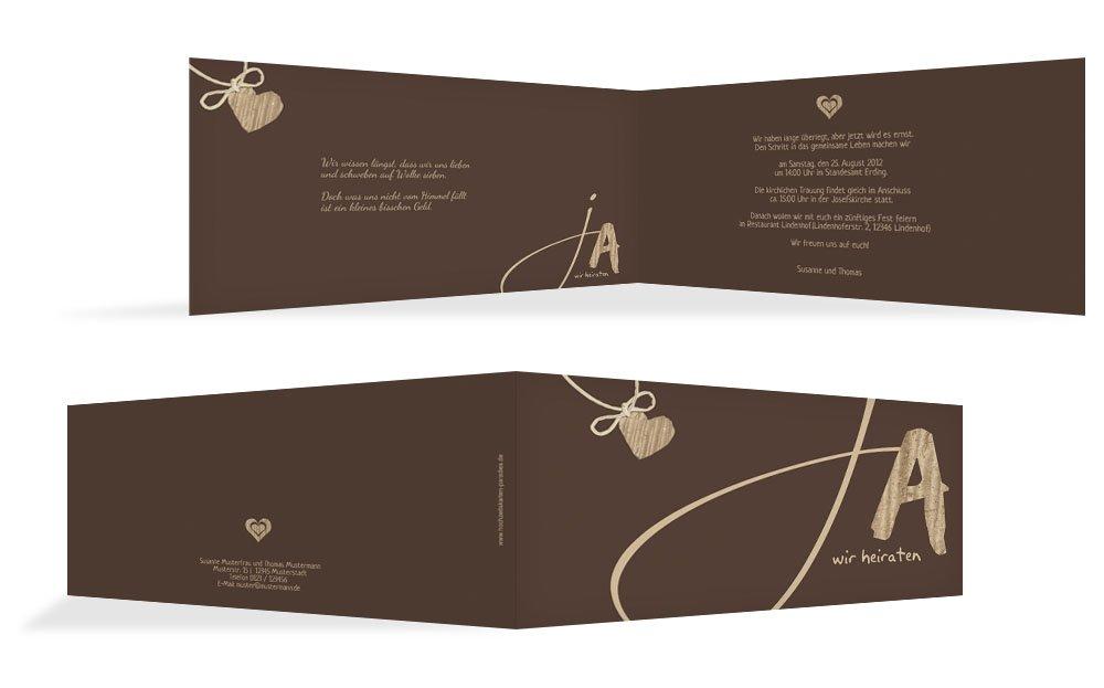 Hochzeitskarten  Einladung Einladung Einladung natürlich Ja 2, hochwertige Einladung zur Heirat inklusive Umschläge   30 Karten (format  148.00x105.00mm) Farbe  Braun B074V7NFP4 | Offizielle Webseite  | Verpackungsvielfalt  | Qualität Produkte  2e8b32
