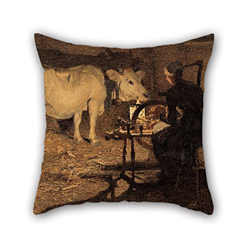 Lion Gorgeous Mountain Gifts (Oil Painting Giovanni Segantini - Spinning Pillow Cases 20 X 20 Inches / 50 By 50 Cm Gift Or Decor For Coffee House,teens Boys,deck Chair,him,bench,gf - Both Sides)