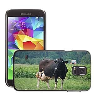 Etui Housse Coque de Protection Cover Rigide pour // M00133856 Vacas Vaca Leche Animal Bestia Pueblo // Samsung Galaxy S5 S V SV i9600 (Not Fits S5 ACTIVE)