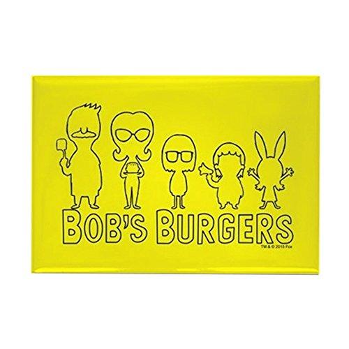 CafePress Bob's Burgers Family Outline Rectangle Magnet, 2