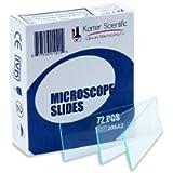 Microscope Slides, Ground Edges, Plain, 90 Corners, 3x1, Karter Scientific 206A2 (Pack of 72)