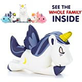 Unicorn Squishy Purple Moon - Our new jumbo slow rising unicorn squishies are the most cute and soft way to relieve stress! Our family set of office stress relief toys will calm you with cuteness!