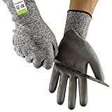 Cut Resistant Gloves Size 7/S - CE EN388 Certified, PPE Level 5 Protection, Anti-Slash Safety Gloves for Kitchen, Garden and Work Site from Ever Oasis