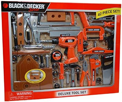 Black And Decker Deluxe Tool Set With Toolbox by Black and Decker