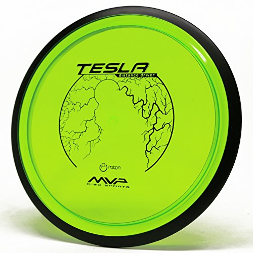 MVP Disc Sports Proton Tesla Disc Golf Distance Driver (170-175g / Colors May Vary) - Extra Long Disc Golf Driver