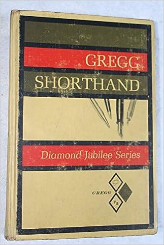 Amazon Com Gregg Shorthand Diamond Jubilee Series 9780070246256