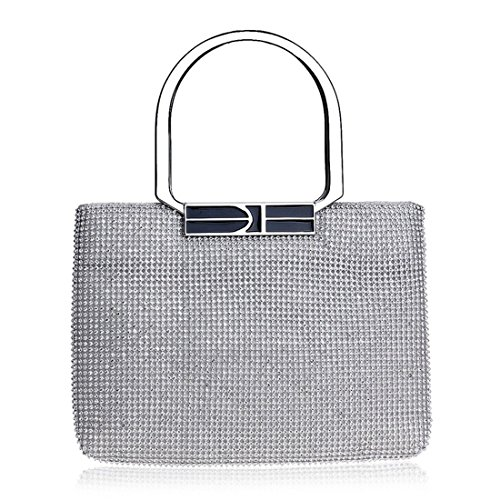 American Luxury Rhinestone And Fly Silver bag Gold Bag Diamond European evening Banquet Handbag Color Dress Ladies qFEwg0
