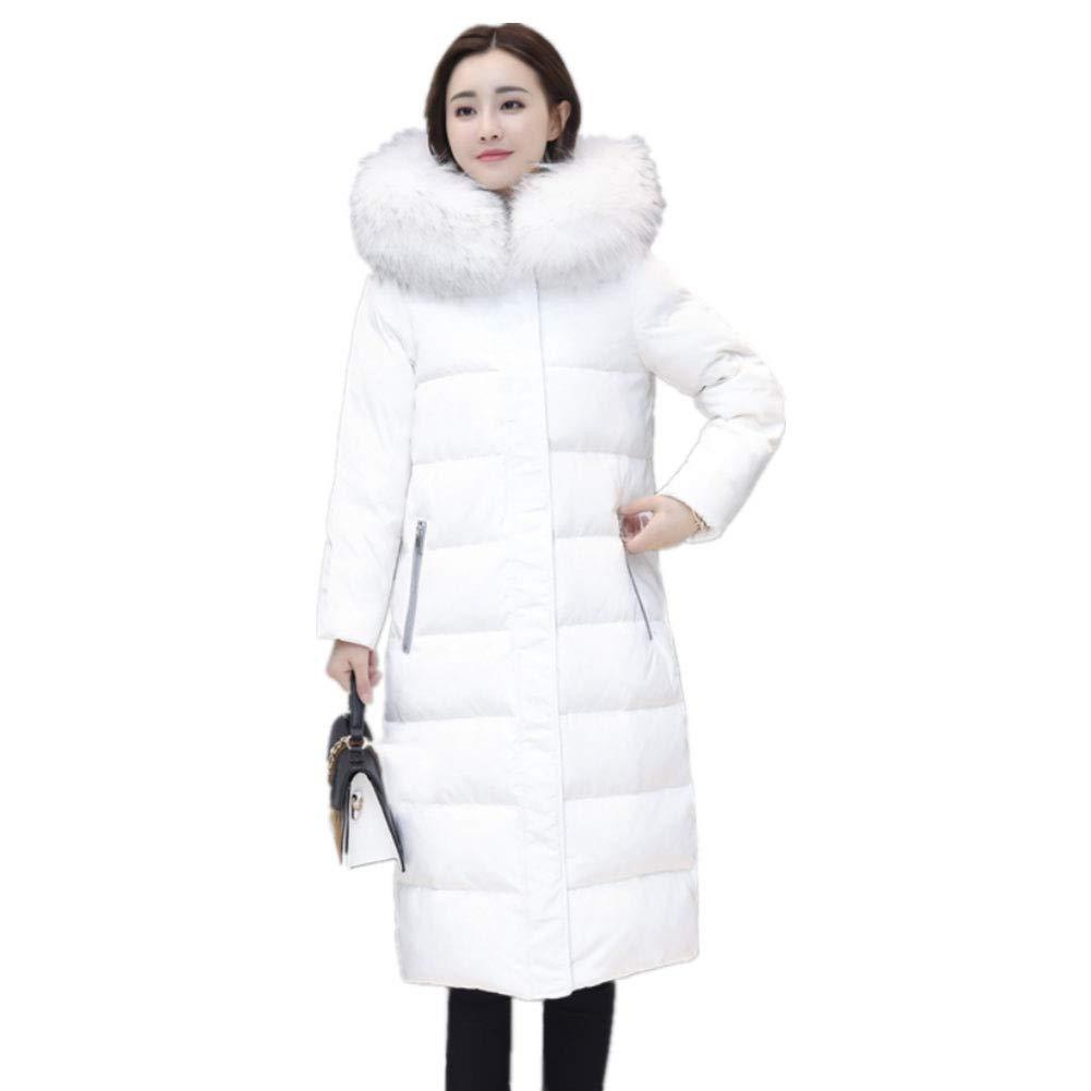 YZ-HOD Frauen Daunenjacke weiße Entendaunen Winter Langen Absatz über die Knie Dicke Mode Daunenjacke