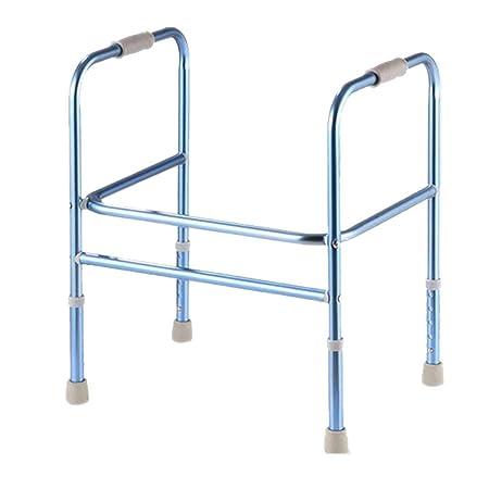 ZYDSD Andador Inodoro Walker Azul Aluminio Doble Pasamanos ...