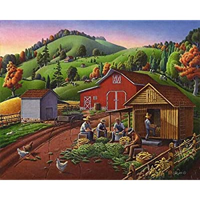 Walt Curlee Corn Shuckers Puzzle - 550Piece: Toys & Games