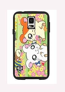 Case Cover Design Hamtaro Cartoon HM04 for Samsung S3 mini Border Rubber Hard Plastic Case Black@pattayamart