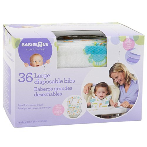 Babies R Us 36 PK Disposable Large Bibs by Babies R Us [並行輸入品]   B01AL06H1E