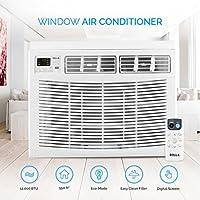 DELLA 12,000 BTU Window Air Conditioner (up to 550 Sq ft) 115 Volt Energy Star w/Remote Control, White