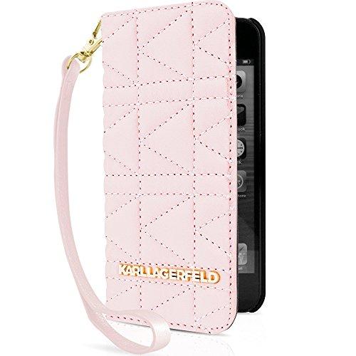 Karl Lagerfeld Kuilted Buchtyp Hülle für Apple iPhone 6/6S pink