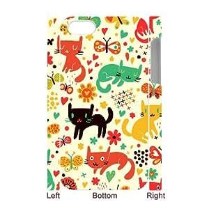 CHSY CASE DIY Design Cartoon Cat Pattern Phone Case For Iphone 4/4s