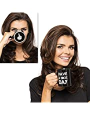 Gadget Masters Have a Nice Day - middelvinger grappige mok voor melk, sap, koffie of thee, zwart