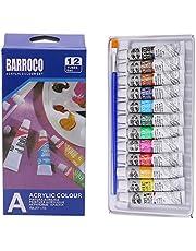 SIQIMI - Juego de acuarelas de pintura acrílica (12 colores, 6 ml, 12 unidades)