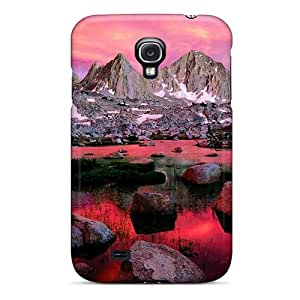 Awesome Design Pink Nature Sunset Hard Case Cover For Galaxy S4