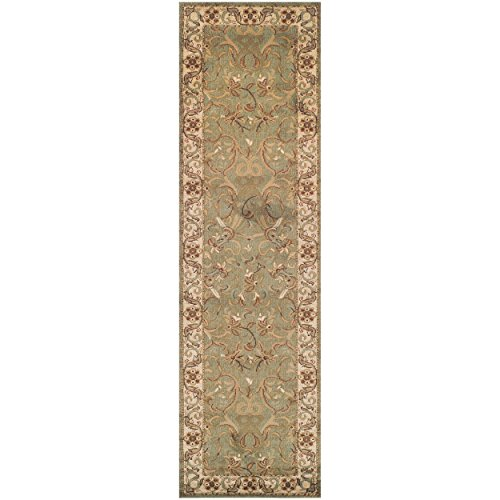 Blue Nile Mills 2.6' x 8' Heritage Water-Repellent Rug Runner, Green (Rug Area Matching With Runner)