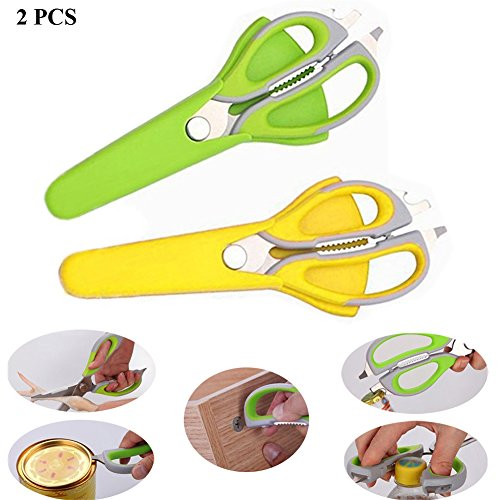 Lesirit Multi-use Come Apart Kitchen Scissors Can Opener and