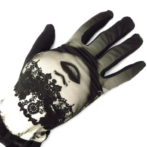 Gants créateur 'Erotica' noir dentelle