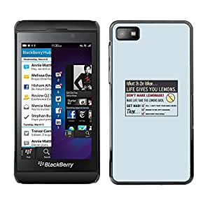 EJOY---Cubierta de la caja de protección la piel dura para el / Blackberry Z10 / --La vida le da Limón