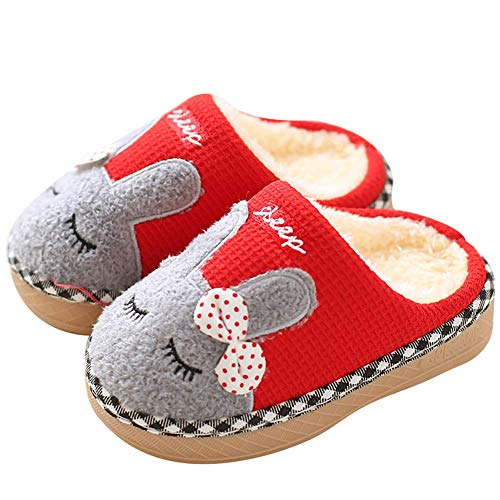 Comfy Warm Clog Slippers Boys Girls Little Kids Furry Plush Household Sleeping Room Shoes