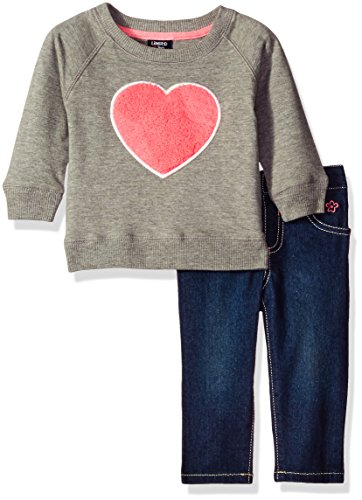 limited-too-baby-girls-2-piece-set-long-sleeve-top-and-denim-jean-heather-grey-18m
