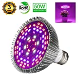 indoor grow light bulb - 50W Led Grow Light Bulb, Led Plant Bulb Full Spectrum Grow Lights for Indoor Plants Vegetables and Seedlings, LED Plant Light Bulb for Hydroponics Indoor Garden Greenhouse and Organic Soil (E26 78LED