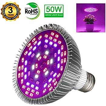 Amazon Com Morsen 80w Led Grow Light Bulb Grow Lamp For