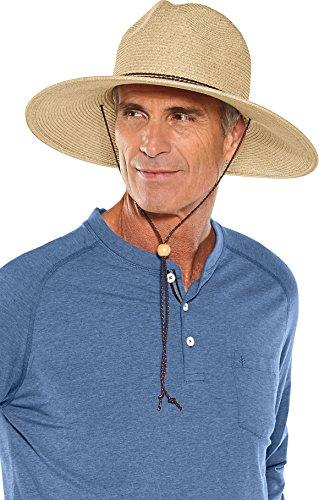 aebf338df54ea9 Coolibar UPF 50+ Men's Shapeable Wide Brim Hat - Sun Protective ...