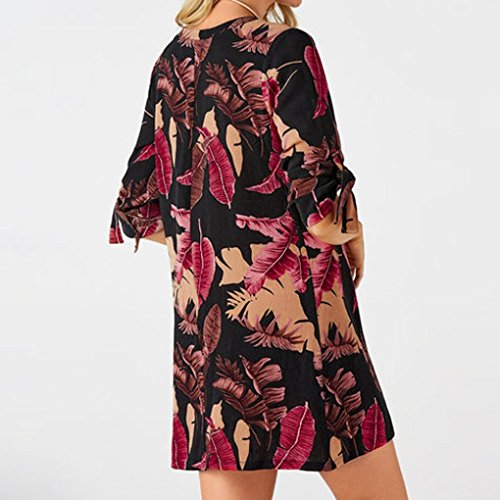 8b3423daaf77 Jaminy Frau Mode Kurzarm Beiläufig O-Ausschnitt Blumenmuster Lose gerade  Minikleid Sommerkleider Strandkleider Kurzärmeliges Kleid ...