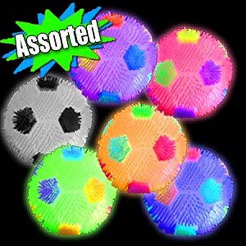 Flashing Soccer Ball (LED Light Up Flashing Bouncing Balls Party Favors - Various Ball Styles by Mammoth Sales (Soccer Balls))