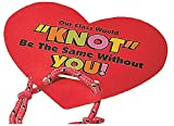 Cards for teachers to give to their students: Valentine Knot Bracelets with Card
