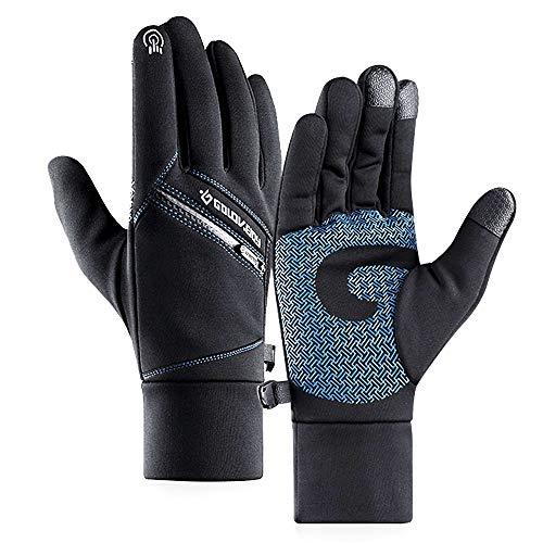 A-QMZL Winter Warme Handschuhe Herren Damen Touchscreen Fahrradhandschuhe Männer Winter Wasserdicht Gloves Winddicht Warme Handschuhe für Outdoor Reiten Laufen Skifahren Bergsteigen